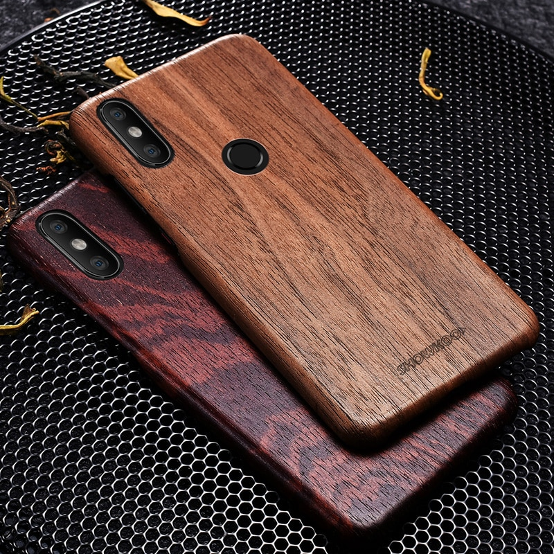 best cheap bf328 d61bd Wood Phone Case For Xiaomi Mi8 Wooden+Fiber Perfect Combination Wood Cover  For Xiaomi 8 Ultra-Thin Wooden Coque