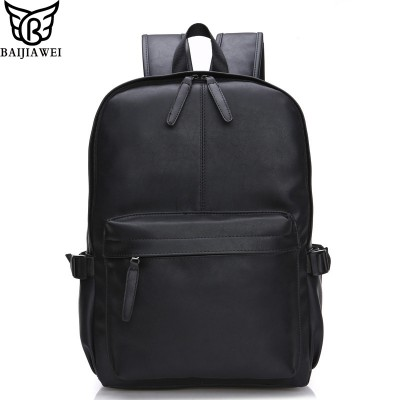 2019 New Arrival Oil Wax Leather Backpack For Men Travel Backpacks Western Design Style Leather School Backpack  Mochila Zip
