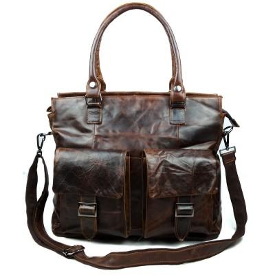 New Genuine Leather Men bags Fashion Brand Designer Handbags Shoulder Vintage Retro Cow Bags Men Messenger Bags Briefcase laptop