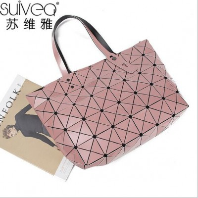 2019 NEW BaoBao Diamond Woman Handbag Issey Miyak Plaid bag Tote Geometry Sequins Saser Plain Folding Briefcase Shoulder Bolso