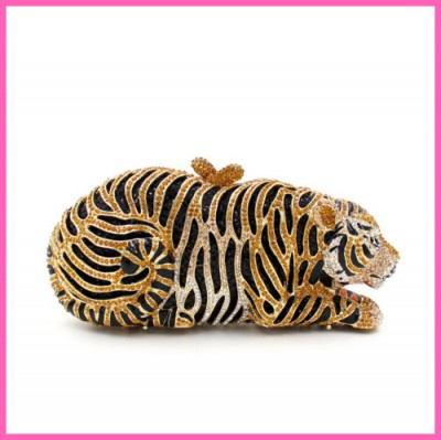 Animal Bags Attractive high quality diamond luxury LION ANIMAL KING evening bag BRIDE Clutch