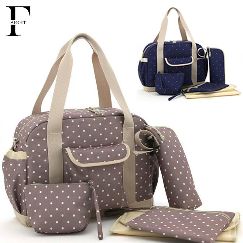 Portable Traveler Bag Set Woman Handbag Diaper Tote Mummy Bag Nappy Baby Bag