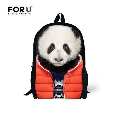 Hot Animal Panda Backpack Men's Travel Backpacks,Boys Tiger Printing Backpack Child Bagpack Children School Bags For Teenagers