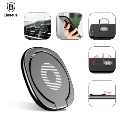 Universal Mobile Phone Stand 360 Finger Ring Desk Stand Holder Fit For Magnetic Car Bracket Luxury Phone Holder Stand