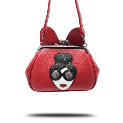 Sexy Bag 2019 Handbag Mouse Ears Lock Chain Crossbody Bag Small Handbag Shoulder Bags Purse Sexy Ladies Pattern Bag