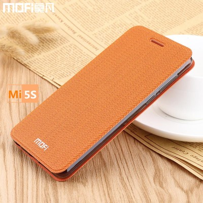 Xiaomi mi 5s case mi5s case flip case MOFi original xiaomi mi5s cover mi 5s leather case stand coque capa funda wheat 5.15 inch