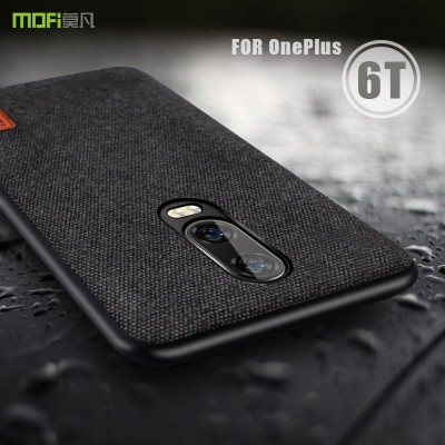 Oneplus 6t Case Cover MOFI OnePlus 6T Phone Case Back Fabric Case