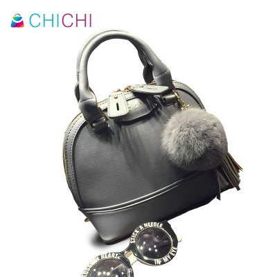 CHICHI New Shell Bag Famous Designer Women Leather Handbags Vintage Tassel Ladies Hand Bags Small Luxury Messenger Bags Purses