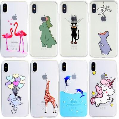 Cartoon Dinosaur Unicorn Flamingo Phone Case for iPhone X  XR Xs Max 7 6s 6 plus 8 plus Case Soft Cover