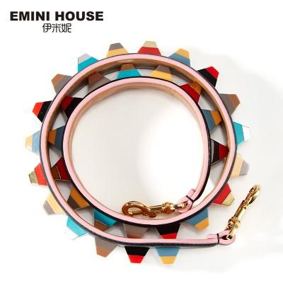 EMINI HOUSE Colorful Acrylic Shoulder Strap Genuine Leather Women Bag Strap 89cm*4cm