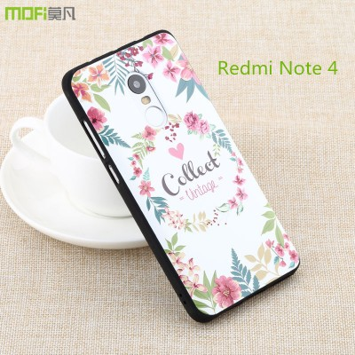 Redmi note 4 pro case cover xiaomi redmi note 4 case MOFi original pro prime soft back cover cartoon 3D relief colorful bohemia