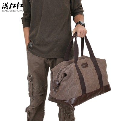 Squirrel fashion canvas solid unisex large capacity travel tote cross-body classic handbag casual vintage men messenger bag
