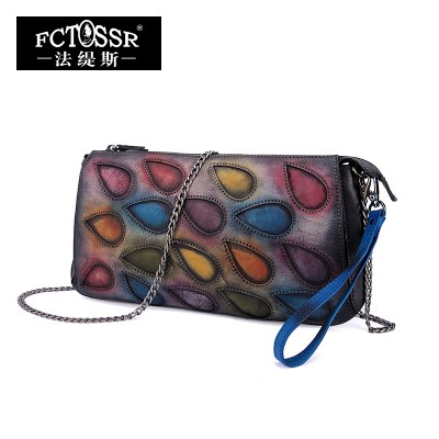 Women Bags 2017 Genuine Leather Handbag Day Clutch Shoulder Bag Messenger Bag High Quality Mixed Color Vintage Women Purse