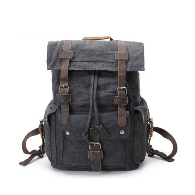 36-55 Litre Canvas Retro Mens Canvas Backpack Mens Bag Shoulder Bag Casual Bag