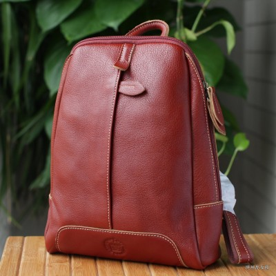 Leather College of Retro Womens Backpack