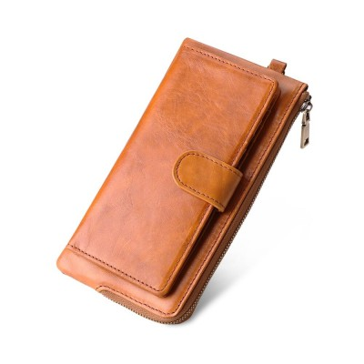 Brand Women Long Wallet Genuine Leather Wallets RFID Phone Bag Coin Purse Card Holder Women's Long Design Purse Clutch Wallet