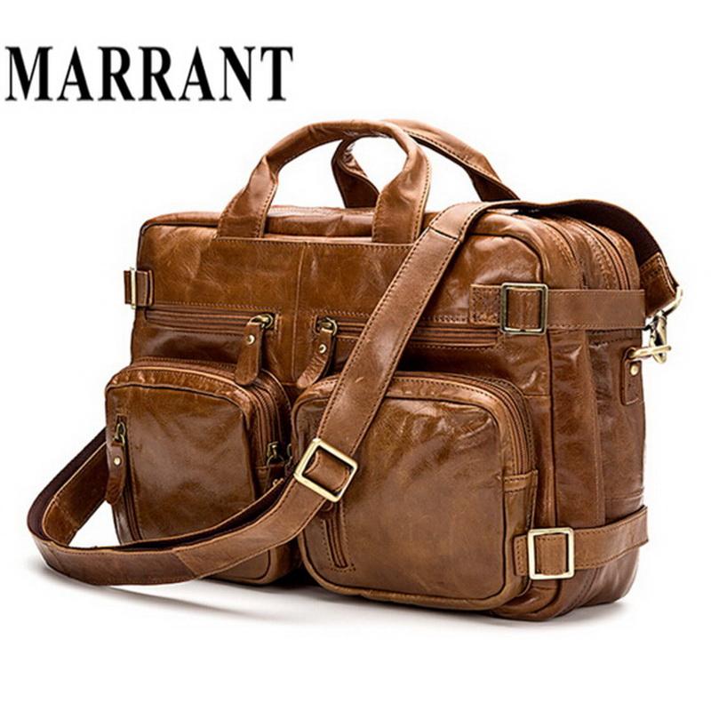 Genuine Leather Men Bag Fashion Men s Business Briefcase Men ... 8b260f04f65d3