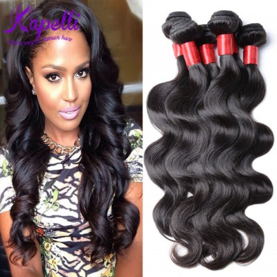 Unprocessed 9A Grade Hair Brazilian Body Wave Human Hair Weave 4 Bundles / lot Natural Black Color King Brazilian Virgin Hair