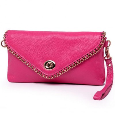 MISS YING fashion leather women handbag envelope Clutch wristlet bag with chain shoulder bag