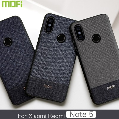 Xiaomi Redmi Note 5 Case Redmi Note 5 Cover Mofi Business Gentleman Fabric Redmi Note 5 Back Cover