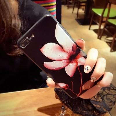 cartoon phone cases Flower Cartoon 3D Relief Silicone Case For iphone 7 7plus for iphone 6s 6  6plus Case TPU Case cartoon cases