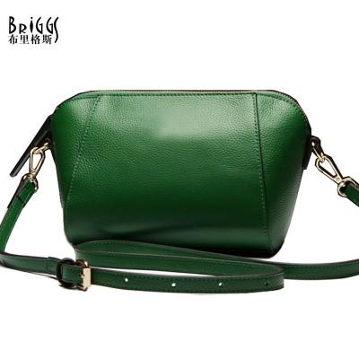 BRIGGS Brand Small Shell Genuine Cow Leather Women Bags High Quality Women Messenger Bag Luxury Handbags Women Bags Designer