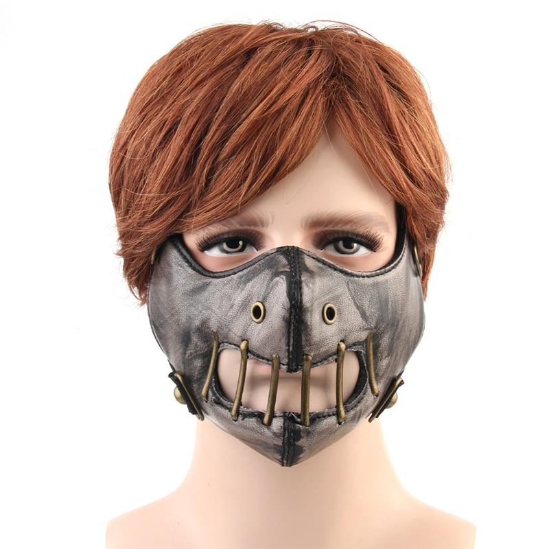 Steampunk Biker Motorcycle Leather Mask Punk Masque Unisex
