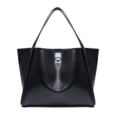 Black Ladies Hand Bags Large Soft Real Genuine Leather Tote Bags For Women Messenger Bags Luxury Handbags Shoulder Composite Bag
