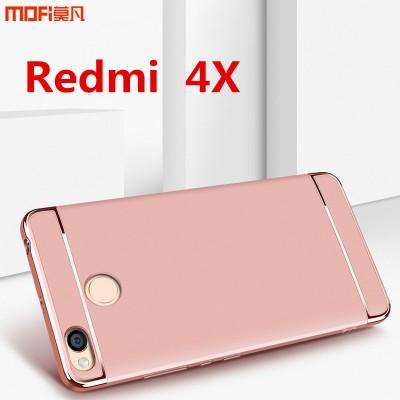 "Redmi 4X case cover hard back case MOFi original Xiaomi redmi 4x cover accessories luxury 3 in 1  redmi 4x funda capa coque 5.0"""