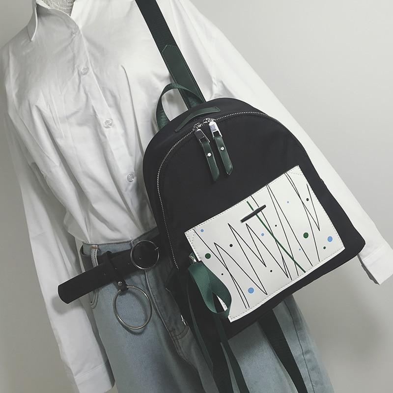 81271b2f1869 2019 new women female backpack shoulder bag womens messenger Mini small  backpack College simple bag for girls adults