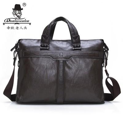 Men Bags Laptop Office Briefcases Cow Split Leather Briefcase for Men Computer Briefcase Messenger Bag Mens Handbags