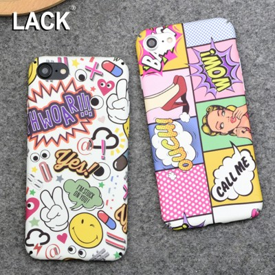 cartoon phone cases Fashion Hard PC Case Sexy Girls Graffiti Letter Cartoon Cover For iphone 6 Case For iphone 6S 7 7 PLus Phone Cases Coque cartoon cases