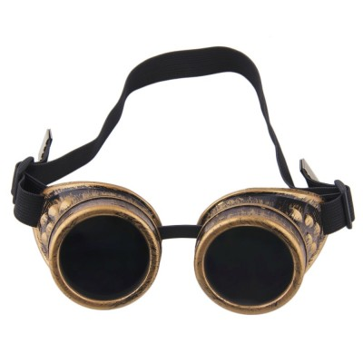 Cyber Goggles Steampunk Glasses Vintage Retro Welding Punk Gothic Sunglasses 2019 Fashion Retro Steampunk Cyber Goggles Glasses