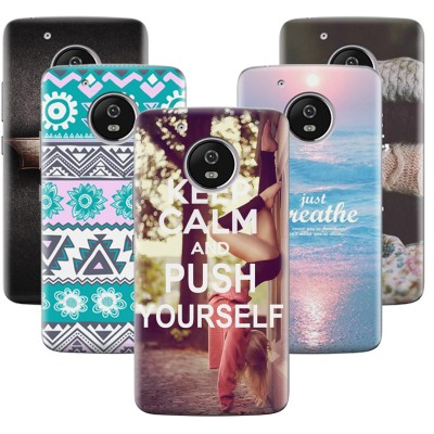 back cover for Motorola MOTO G5 Plus case beautiful Floral printing painted case for MOTO G5plus G5 plus Plastic Flip Cover
