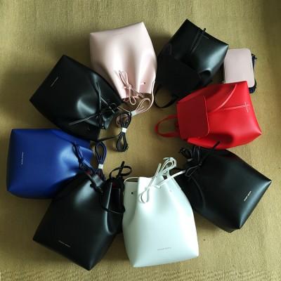 Newest Mansur Gavriel bucket bag women genuine leather hand bag lady real leathe shoulder bag cross bag,free shipping