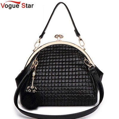 Vogue Star 2019 New Fashion luxury women handbag shoulder bag PU leather Black seashell bag famous designer messenger bag LA208