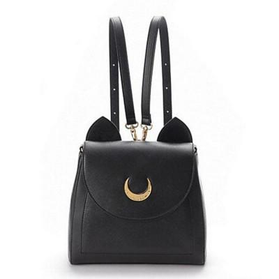 2019 Sailor Moon Bag Women Handbags Famous Brands  Black White Cat PU Leather Women Shoulder Bags   f40-701