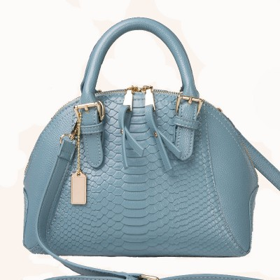 NEW Women Messenger Bags High Quality Double Zipper Woman Bag Fashion Luxury Crocodile Grain Shell Bag Women Leather HandBag