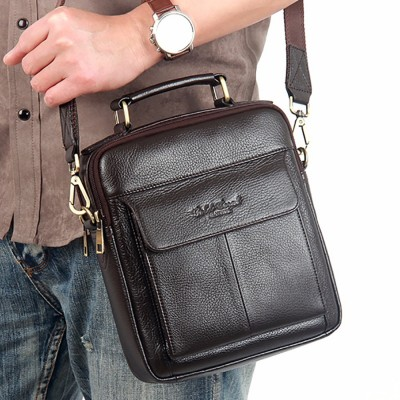 Hot Sale Men's Messenger Bags 100% Natural Genuine Leather Handbags Famous Brand Men Fashion Casual Shoulder Bags