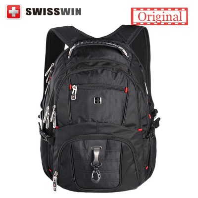 Swissgear Laptop Backpack Men's Travel Backpack Waterproof Nylon School Bags for Teenagers SW8112 Male Bag