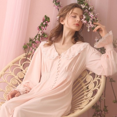 Women Sleepwear Gown Lace Nightgown Gorgeous Elegant Sleepwear Princess Dress For Women Bridesmaid Lace Gowns High Quality
