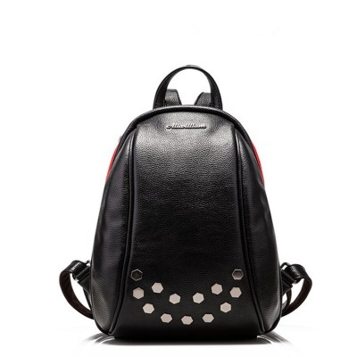 2017 New arrival fashion leather mini backpack high quality leather backpack women