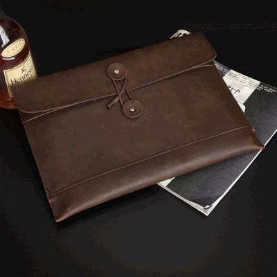 2019 New Business Men's Envelope PackageCrazy Horse Wristlet File PackageRetro Briefcase