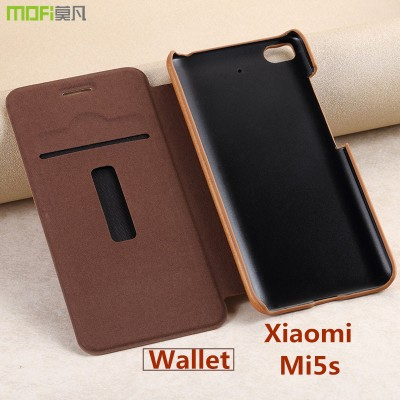 xiaomi mi 5s case cover flip case wallet MOFi original xiaomi mi5s case leather cover pouch card coque capa funda accessories