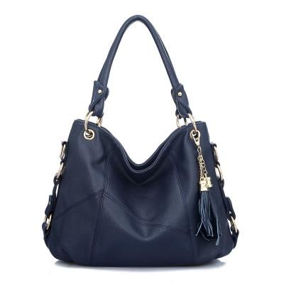2019 Fashion Women Bag Korean Handbags Fringed Shoulder Diagonal Portable Leather Stitching Shoulder Large Bags Handbags Women