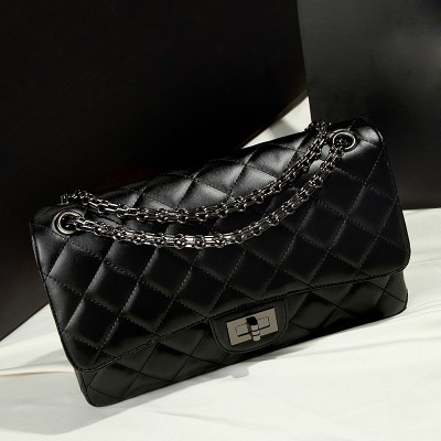 Sexy Bags 2019 Trendy Diamond Lattice Quality PU Leather Women Bag Fashion Women's Shoulder Bags Lady Handbags Sexy Pretty Satchels