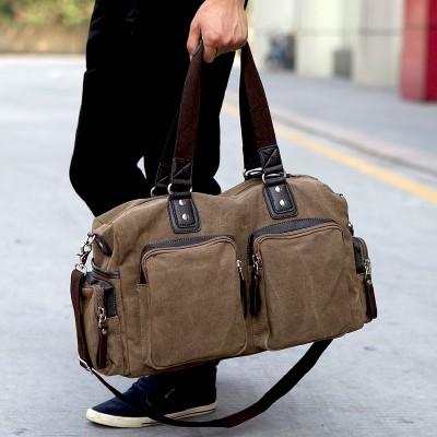 New High Quality Men's Travel Bags Solid Zipper Men Canvas Bag Travel Duffle Bag Bolsa Large Capacity Luggage Tote