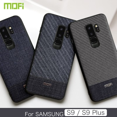 Mofi Case for Samsung Galaxy S9 for Samsung Galaxy S9 Plus Case & Cover Dark Color Gentleman Business Style Handcraft Fabric Cloth Cross Grain Mofi Samsung Galaxy S9 S9 Plus Phone case