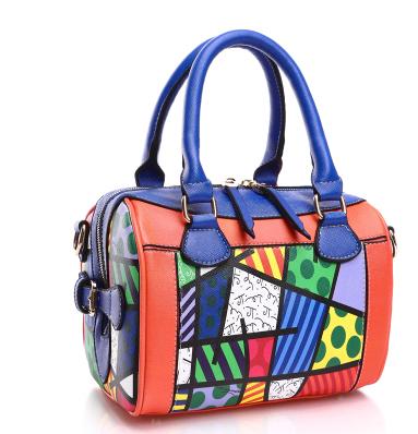 ROMERO BRITTO 2019 Hot Sale New Fashion Digital Print Handbags Graffiti Casual Lady Shoulder Bag PU Bag for Women