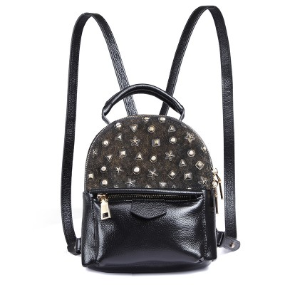 2017 New Mini Backpack backpack embossed leather Korean version of the new leather fashion small bag female tide